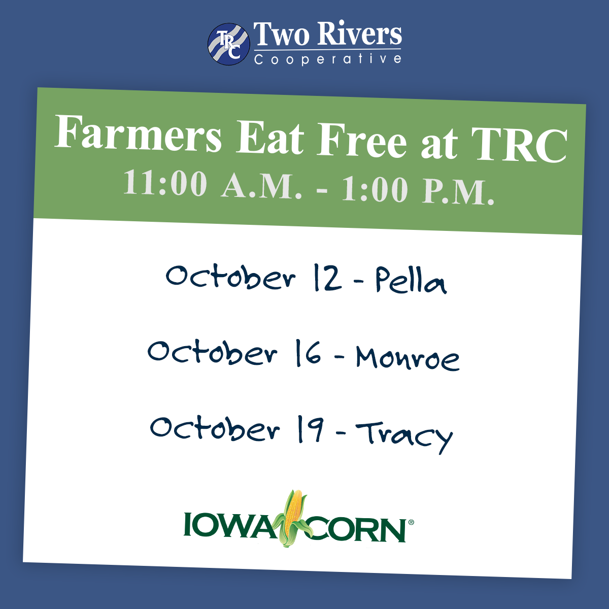 Farmers Eat Free at TRC